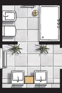 Badideen Grundriss Bad mit Dusche