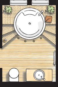 Badideen Grundriss Badezimmer mit Whirlpool