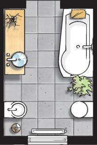 Badideen Grundriss Badezimmer mit Badewanne