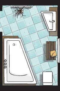 Badideen Grundriss Badezimmer mit Eck-Badewanne