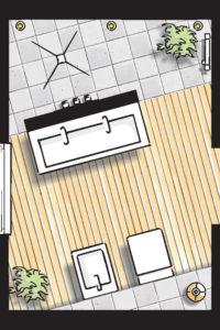 Badideen Grundriss Badezimmer mit Walk-In-Dusche