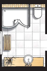 Badideen Grundriss Badezimmer mit Dusche