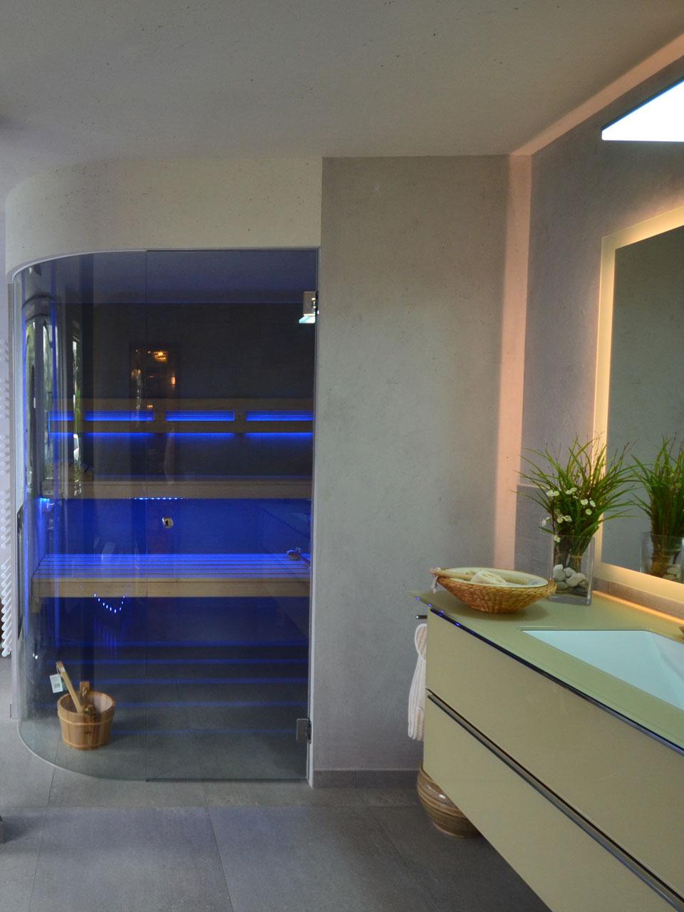 Ausstellung Bad mit Sauna