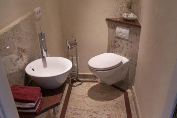 Gäste WC Marmor Badstil