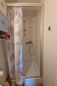Altes Gästebad mit Dusche
