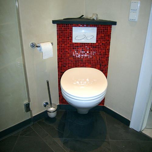 Baddesign im Minibad mit Mosaikfliesen