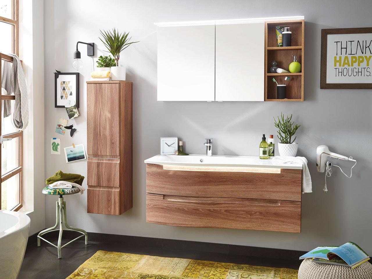 Badezimmer Holzoptik Dekoration