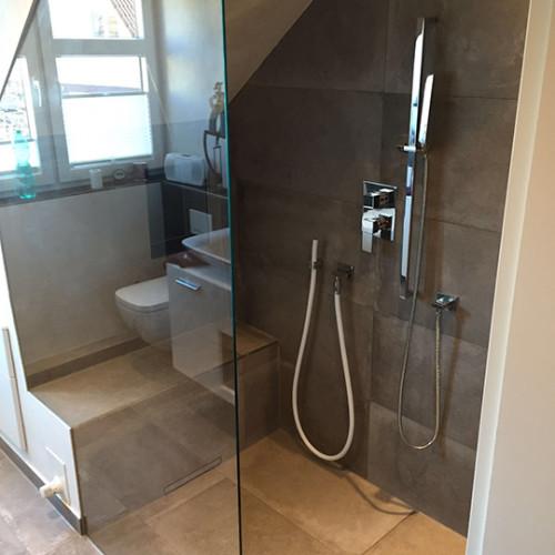 eckige Duschamatur mit Kneipp-Schlauch