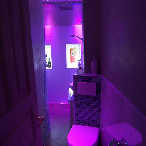 Lichteffekte im Minibad