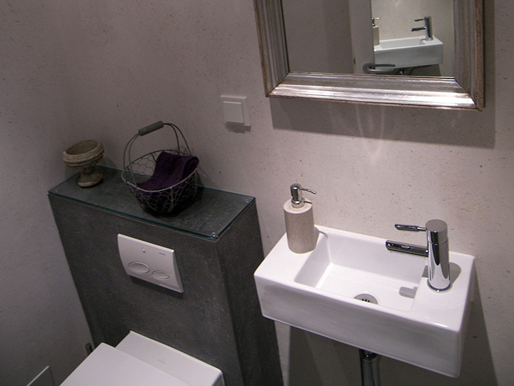 Gäste-WC mit Schiefer-Fliesen (Bad 017) - Bäder Dunkelmann