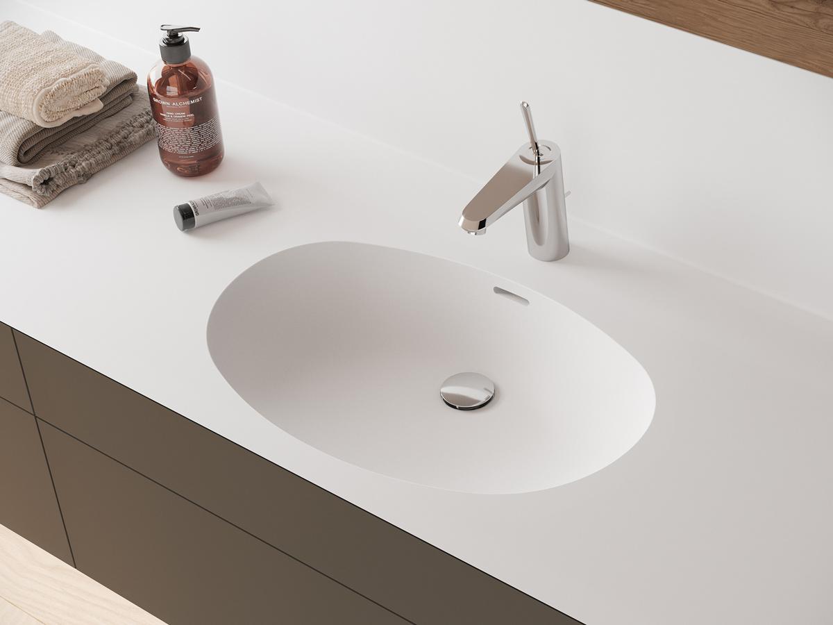 Corian Waschbecken oval